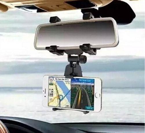 Suport auto pt telefon mobil cu prindere pe oglinda