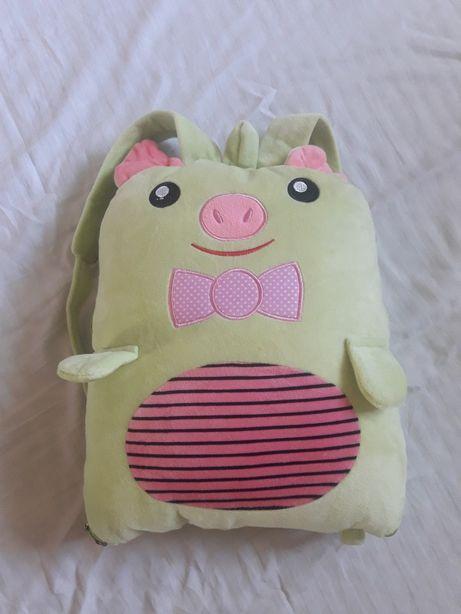 Сумка плед детский (рюкзак)