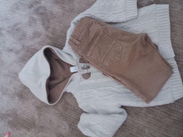 Теплая кофта и вельветовые штанишки
