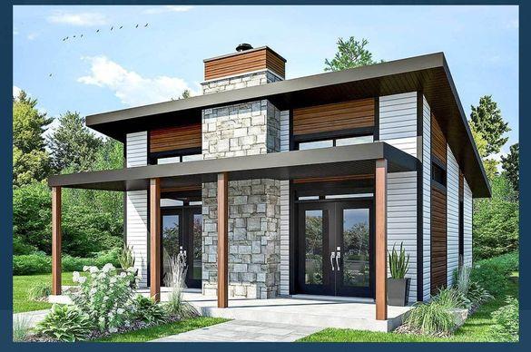 Сглобяеми къщи - проект 65м2. Етап: Груб Строеж. Преместваеми къщи