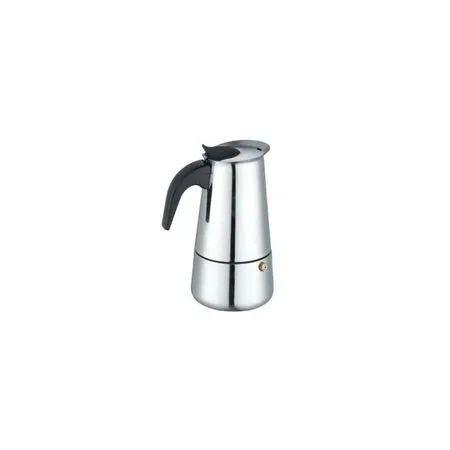Cafetirea / Espressor aragaz inox Bohmann, 4 cesti, argintiu.
