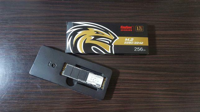 Продам SSD M.2 KingSpec (256 gb). НОВЫЙ! 0 часов работы. торг!