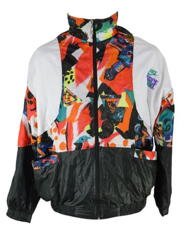 Geaca Dama Nike Vintage Retro marimea XL oversized Multicolora OO9