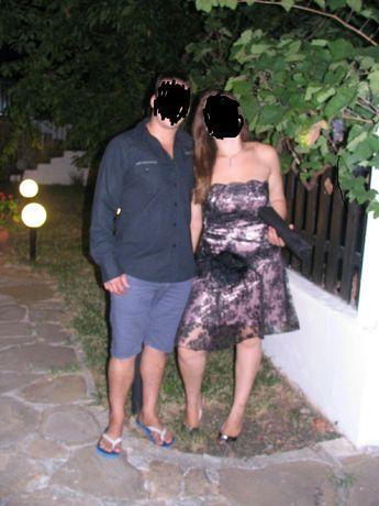 Бална рокля пепел от рози