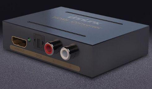 Аудио извличащ конвертор преобразувател от HDMI към RCA L / R