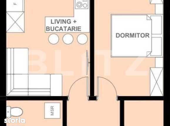 Vanzare apartament 2 camere, 44.35 mp utili, Apahida