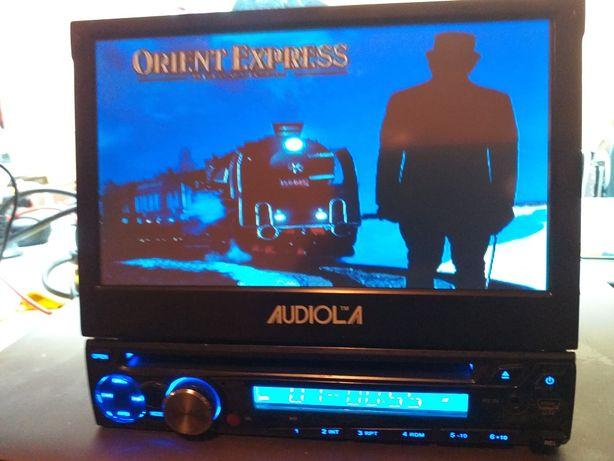 Dvd auto cu ecran retractabil,tactil cu usb si card
