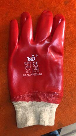 Перчатки красные обливные МБС