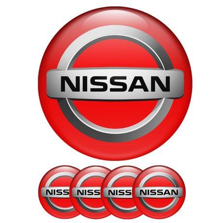Силиконови стикери за капачки на джанти Нисан/Nissan размери 40мм до 9