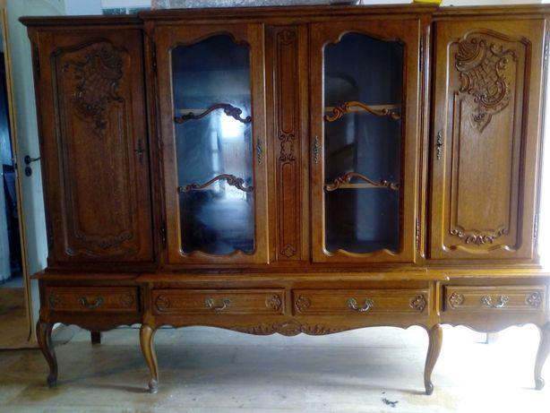 Salon vitrina masa+6 scaune Louis XVI antic/ retro/ vintage