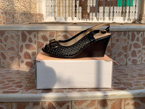 Черни летни сандали