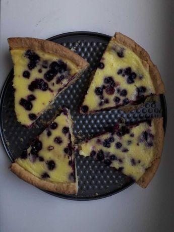 Пирог со сметанной заливкой. Сметанник