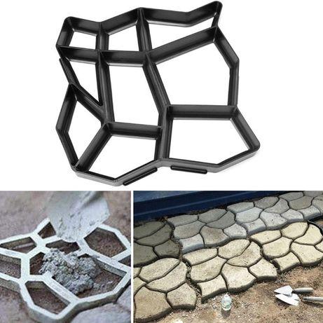 Щампа за градинска пътека, форма за цимент, бетон, калъп за алея