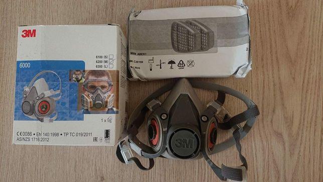 Оригинальная полумаска 3М 6200 с угольным фильтром Не Китай