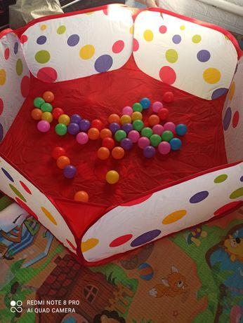 Сухой бассейн с шариками, палатка, манеж новый