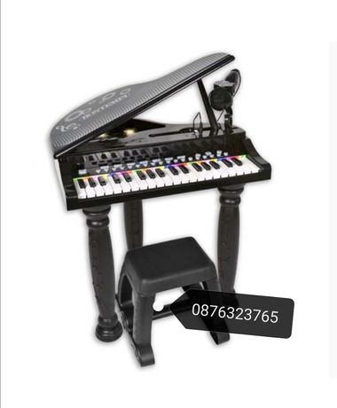 Детско пиано с микрофон и столче играчки играчка