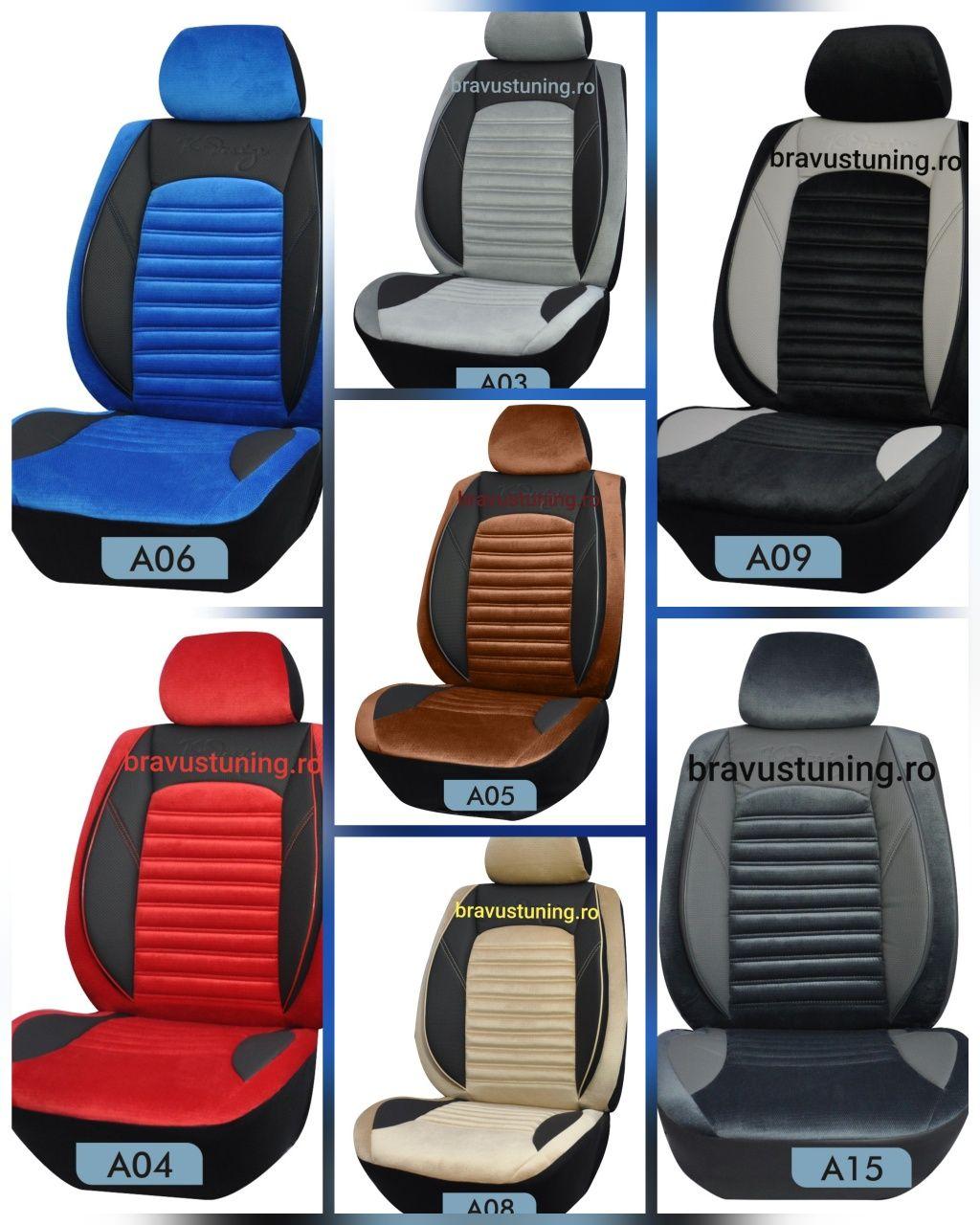 Huse scaun auto VELUR SET COMPLET Audi,Passat,Skoda,Logan,Vw,BMW etc