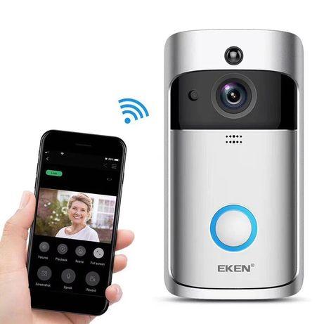 Videointerfon wifi wireless cu baterii vizualizare telefon oriunde