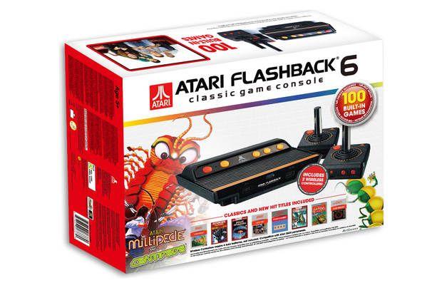 Consola joc Atari cu 100 de jocuri