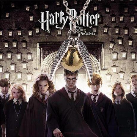 Pandantiv Lantisor Harry Potter Quidditch Golden Snitch Angel Wing