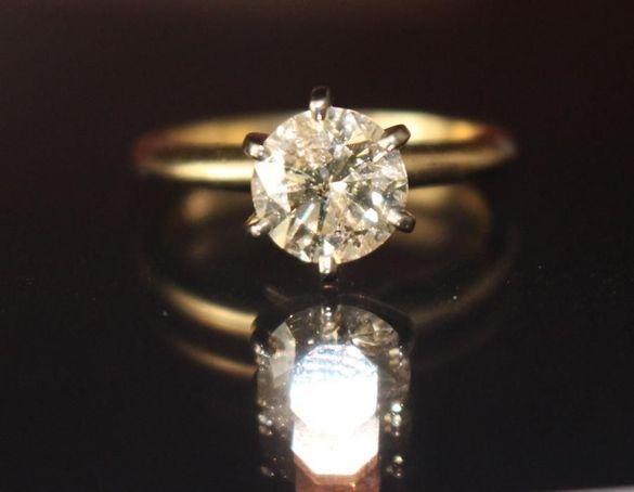 Годежен пръстен с диамант