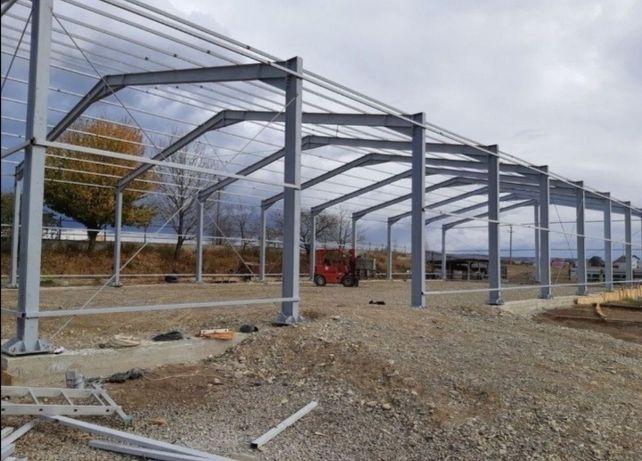 Vând hale metalice structuri solide demontabile livrez 12x60h6m