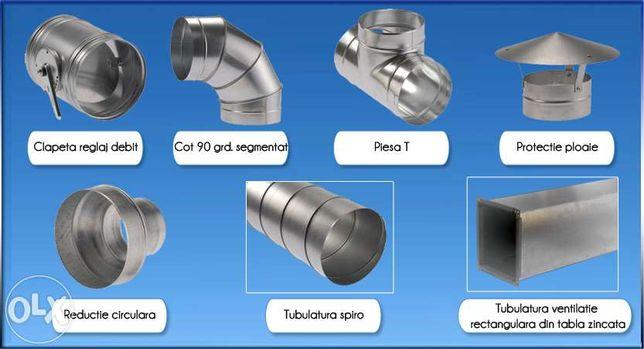 Tubulatura spiro,sisteme de ventilatie&cosuri de fum