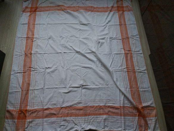 месал,покривка от 3 памучни ръчно тъкани дилки  плат
