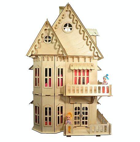 Отличный подарок! Игрушечный деревянный домик