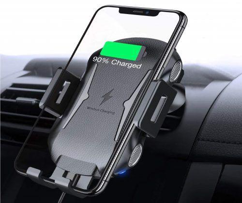 Incarcator rapid 10W wireless auto cu suport telefon