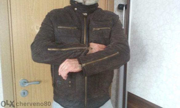 СУПЕР!!!Мъжко кафяво яке от естествена кожа!