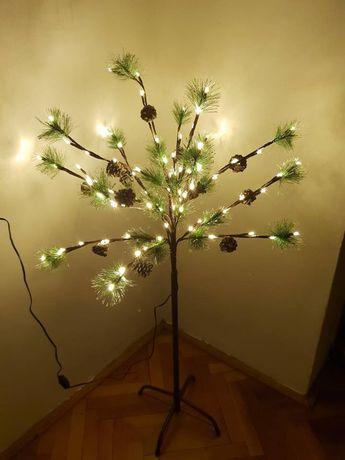 Brad decorativ 110cm cu 92 LED-uri