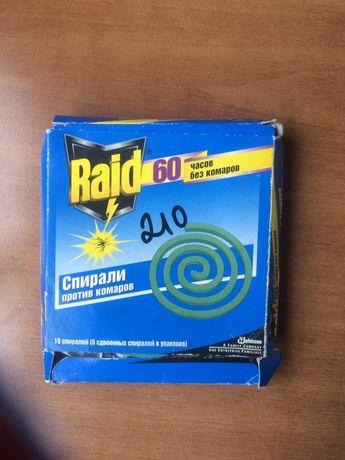 Спирали против комаров Raid