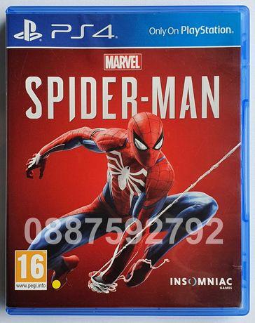 Перфектен диск с играта Spider Man PS4 Sony Playstation 4 Спайдър мен