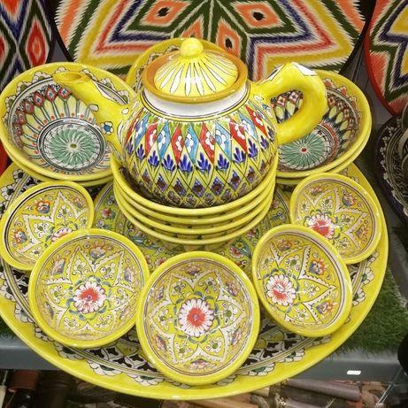 Риштанская посуда из Узбекистана