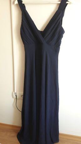 Дълга официална тъмносиня рокля