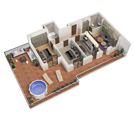 Apartament 3 camere Theodor Pallady - Nicolae Teclu