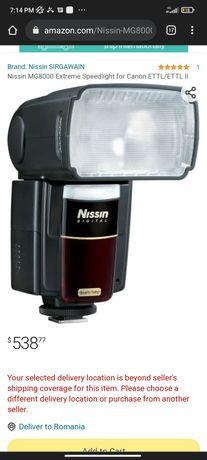 blit canon Nissin MG 8000 EXTREME LAMPA PE QUART