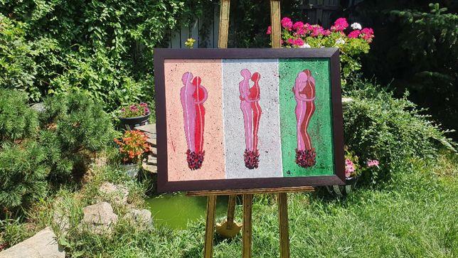 "PICTURA, TABLOU MODERN, decorativ, ""RELATIE"", noua, pictor consacrat"