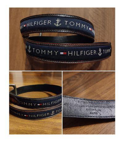 curea piele naturala Tommy Hilfiger, curea piele strut