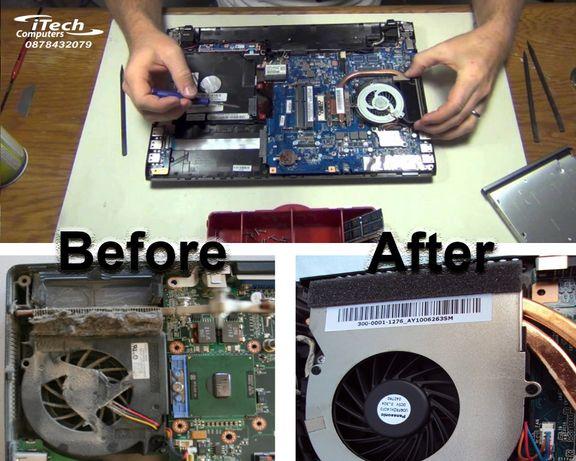 Почистване на охладителна система на лаптоп/компютър