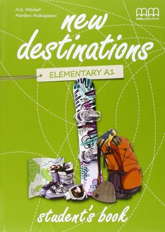 New destination,elementary A1.2 учебник с тетрадка по английски език