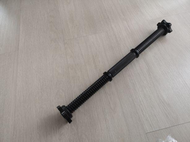 Bara gantere cu prinderi/opritoare 30 mm 52 cm lungime NOUA