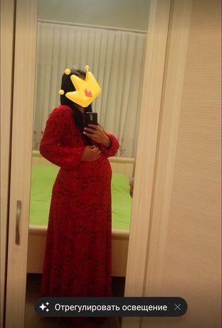 Платье нежное в пол можно беременным