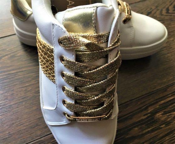 adidasi, head over heels by dune, trainers, alb auriu, uk 4, marime 37