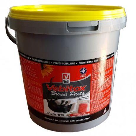 Raticid otrava pentru combaterea rozatoarelor Vebitox Broma Pasta 5 kg