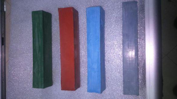 Продавам полир пасти 4вида,абразиви 150х20,200х20,тьнки 1,8/3мм-150мми