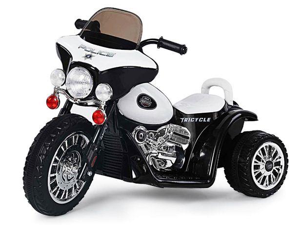Motocicleta electrica pentru copii, POLICE JT568 25W STANDARD #Alb