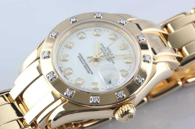 Шикарные Часы Наручные Женские Rolex Date just Pearlmaster