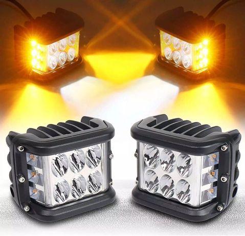 """Комплект универсални LED халогени 3"""" 72W две светлини"""